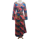 VSTAR Casual Gamis Batik [62-144] - Red (V) - Maxi Dress Wanita